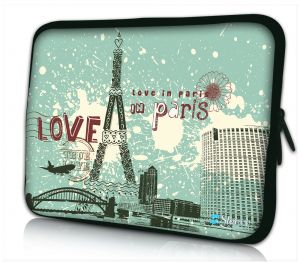 laptophoes 10.1 inch Love in Paris Sleevy