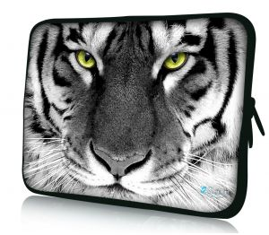 laptophoes 10.1 inch witte tijger Sleevy