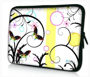 Sleevy 11.6 inch laptophoes macbookhoes artistiek vlinder design