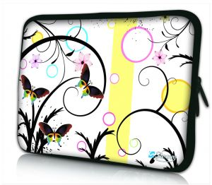 Laptophoes 13 inch artistiek vlinder design Sleevy
