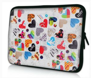laptophoes 13.3 inch gekleurde harten Sleevy