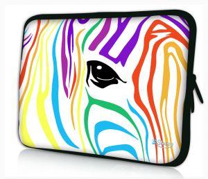 laptophoes 13.3 inch gekleurde zebra Sleevy