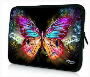 laptophoes 14 inch gekleurde vlinder sleevy