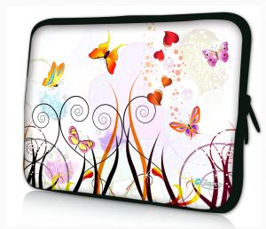 laptophoes 14 inch gekleurde vlinders sleevy