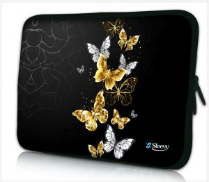 Laptophoes 14 inch vlinders goud - Sleevy