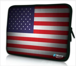 laptophoes 14 inch USA vlag sleevy