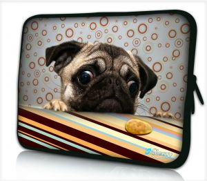 Sleevy 15,6 inch laptophoes grappig hondje