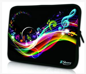 Sleevy 15,6 inch laptophoes muziek