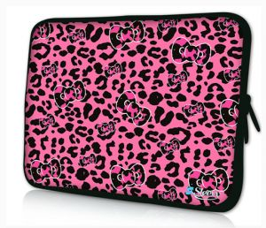 Sleevy 15,6 inch laptophoes roze panterprint