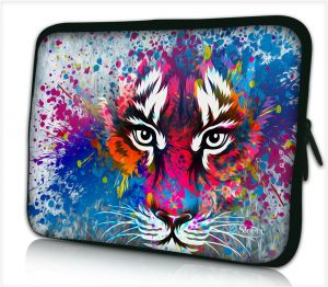 Laptophoes 15,6 inch tijger artistiek - Sleevy