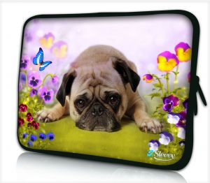 Sleevy 15,6 inch laptophoes lief hondje