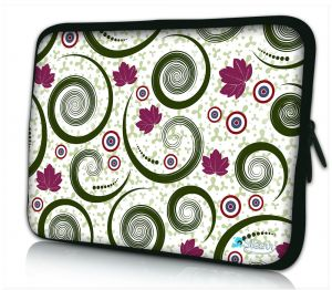 laptophoes 17 inch artistiek tornado patroon Sleevy