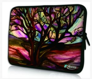 laptophoes 17,3 kunst sleevy