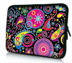 Sleevy 17 inch laptophoes gekleurde patronen