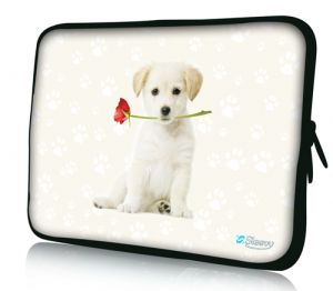 "Sleevy 15"" laptophoes hondje"