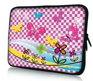 "Sleevy 15"" laptophoes vlinders"