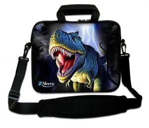 Sleevy 15,6 inch laptoptas dinosaurus