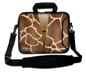 Sleevy 15,6 inch laptoptas giraffe