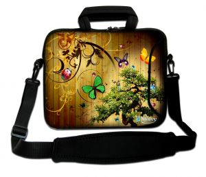 Sleevy 15,6 inch laptoptas vlinders