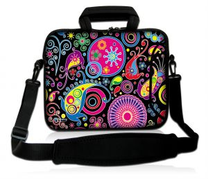 Sleevy 15,6 inch laptoptas patronen design