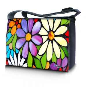 Sleevy 15,6 inch laptoptas bloemen