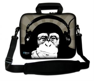 Sleevy 15.6 inch laptoptas chimpansee