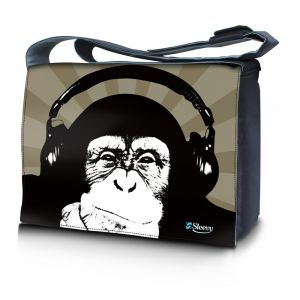 Sleevy 15,6 inch laptoptas chimpansee