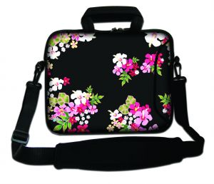 Sleevy 15,6 inch laptoptas gekleurde bloemen