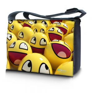 Sleevy 15,6 inch laptoptas gele smileys