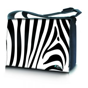 Sleevy 15,6 inch laptoptas zebra