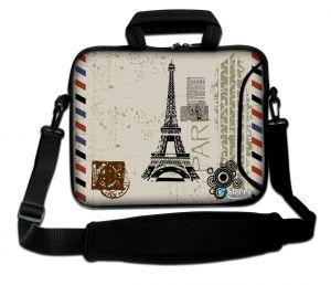 Sleevy 17,3 inch laptoptas Eiffeltoren
