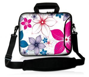 Sleevy 17,3 inch laptophoes bloemen