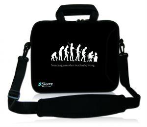 Sleevy 17,3 inch laptoptas grappige evolutie