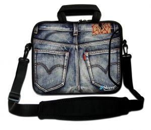 Sleevy 17,3 inch laptophoes spijkerbroek