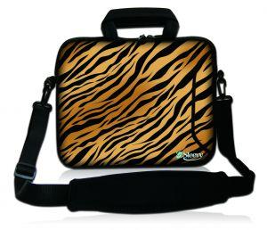 Sleevy 17,3 inch laptophoes tijgerprint