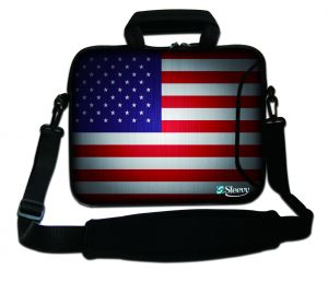 Sleevy 17,3 inch laptophoes USA vlag