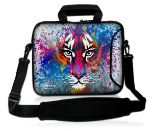 Laptoptas 17,3 inch tijger artistiek - Sleevy