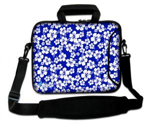 Sleevy 17.3 inch laptoptas klavertje 5 blauw