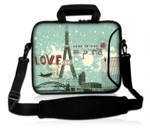 Sleevy 17,3 inch laptoptas Love in Paris