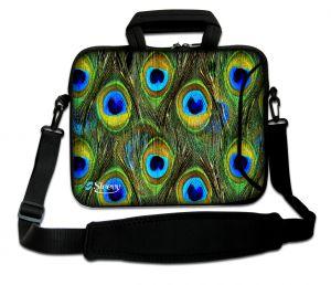 Sleevy 17.3 inch laptoptas pauwen patroon