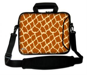 Sleevy 17,3 inch laptoptas giraffe design