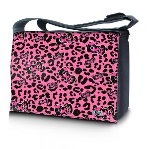 17,3 inch laptoptas roze panterprint Sleevy