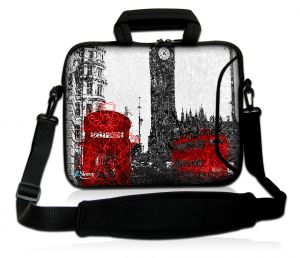 Sleevy 17,3 inch laptoptas artistiek Londen