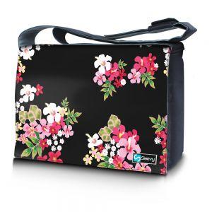 Messengertas / laptoptas 17,3 inch gekleurde bloemen - Sleevy