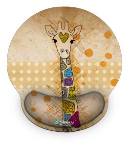 Muismat polssteun giraffe - Sleevy