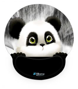 Muismat polssteun schattige pandabeer - Sleevy