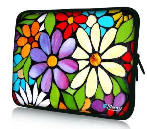 "Sleevy 17"" laptophoes bloemen"