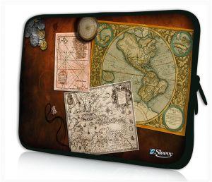 Sleevy 15 inch laptophoes antieke kaarten
