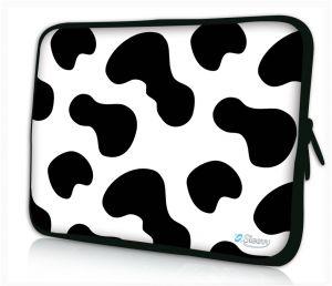 """Sleevy 11"""" laptophoes koeienvlekken"""
