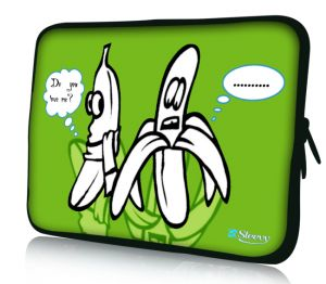 "Sleevy 17"" laptophoes bananen duo love"